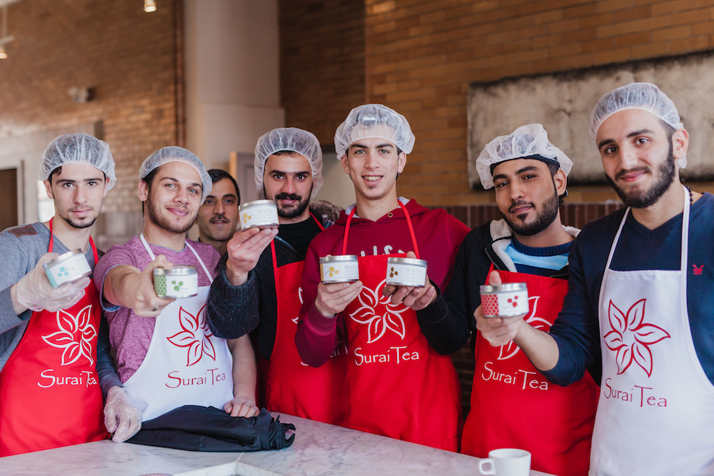 "SuraiTea using ""business as a force for good"""